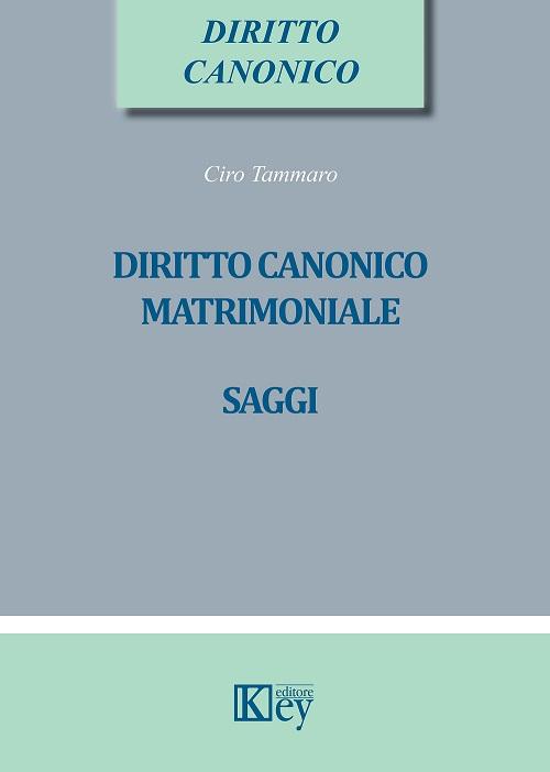9788827902714 Diritto canonico matrimoniale saggi