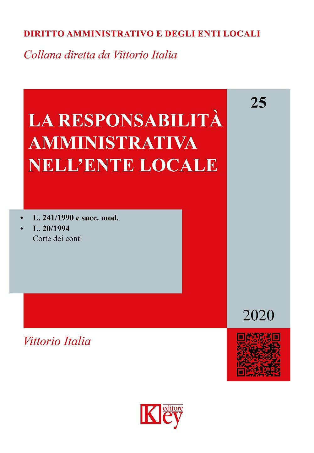 La responsabilità amministrativa nell'ente locale
