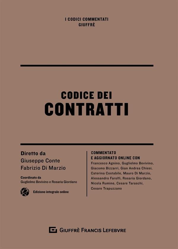 9788828806387 Codice dei contratti