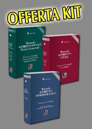 Kit 3 manuali civile-penale-amministrativo