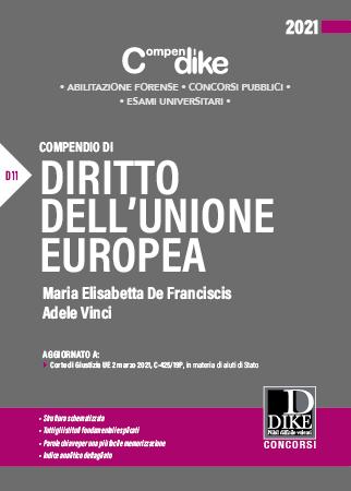 9788858212691 Compendio di diritto dell'Unione Europe