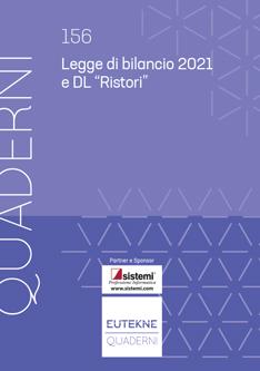 9788885729643 Legge di bilancio 2021 e DL ristori