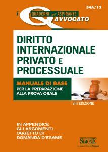 9788891414502 Diritto internazionale privato e processuale manuale di base