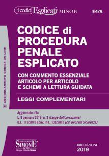 9788891419262 Codice di procedura penale esplicato MINOR