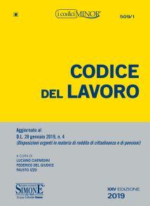 9788891419309 Codice del lavoro MINOR