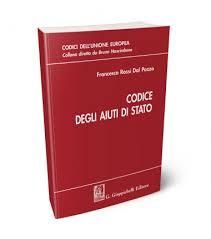 9788892119833 Codice degli aiuti di Stato