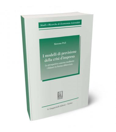 9788892133785 I modelli di previsione della crisi d'impresa