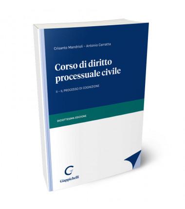 9788892140066 Corso di diritto processuale civile VOL 2